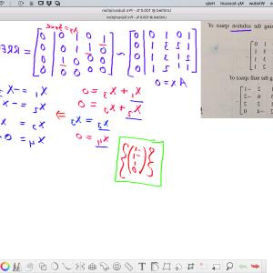 Find Vectors: Find A Set Of Vectors Spanning The Null Space Of A