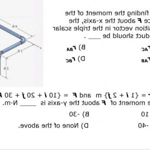 Position Vector Vs Scalar: Force F Acting Along Dc Using Triple Product Determine Moment F Bar Ba Could Use Following Q