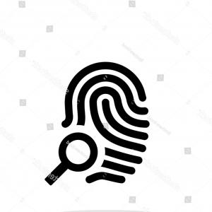 White Thumbprint Vector: Fingerprint Thumbprint Icon On White Background