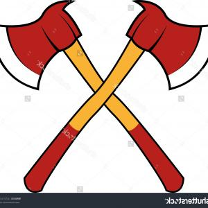 Firefighter Maltese Cross Vector Art: Fire Dept Cross Axes With A Number Clipart