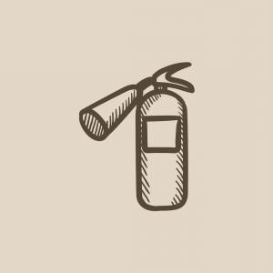 Golf Club Vector Flames: Fire Extinguisher Sketch Icon Vector