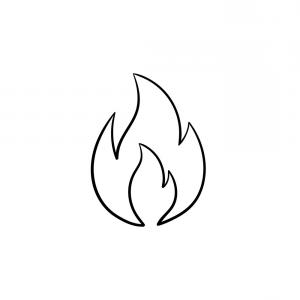 Flame Vector Icon: Fire Flame Hand Drawn Sketch Icon Vector