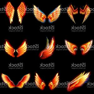 Torn Angel Wings Vector: Photostock Vector Angel Winged Shield With Hand And Lightning Bolt
