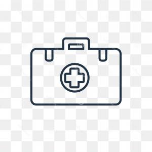 First Aid Outline Vector: First Aid Kit Vector Icon Isolated Transparent Background Li First Aid Kit Vector Outline Icon Isolated Transparent Image
