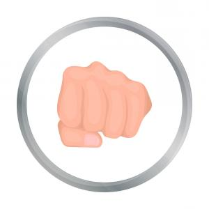 Emoji Fist Bump Vector Graphic: Fist Bump Icon Vector Illustration Black Sign Isolated Background Image