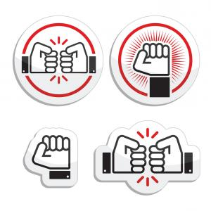 Emoji Fist Bump Vector Graphic: Stock Illustration Fist Bump Icon Cartoon Style Isolated White Background Hand Gestures Symbol Stock Vector Illustration Image
