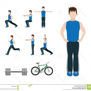 Vector Person Exercise: Fitness Man Doing Exercise Fitness Man Doing Exercise Stretching Vector Illustration Graphic Design Image