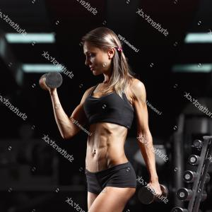 Vector Abstract Woman Bodybuilder Physique: Beautiful Young Sports Men Women Bodybuilding