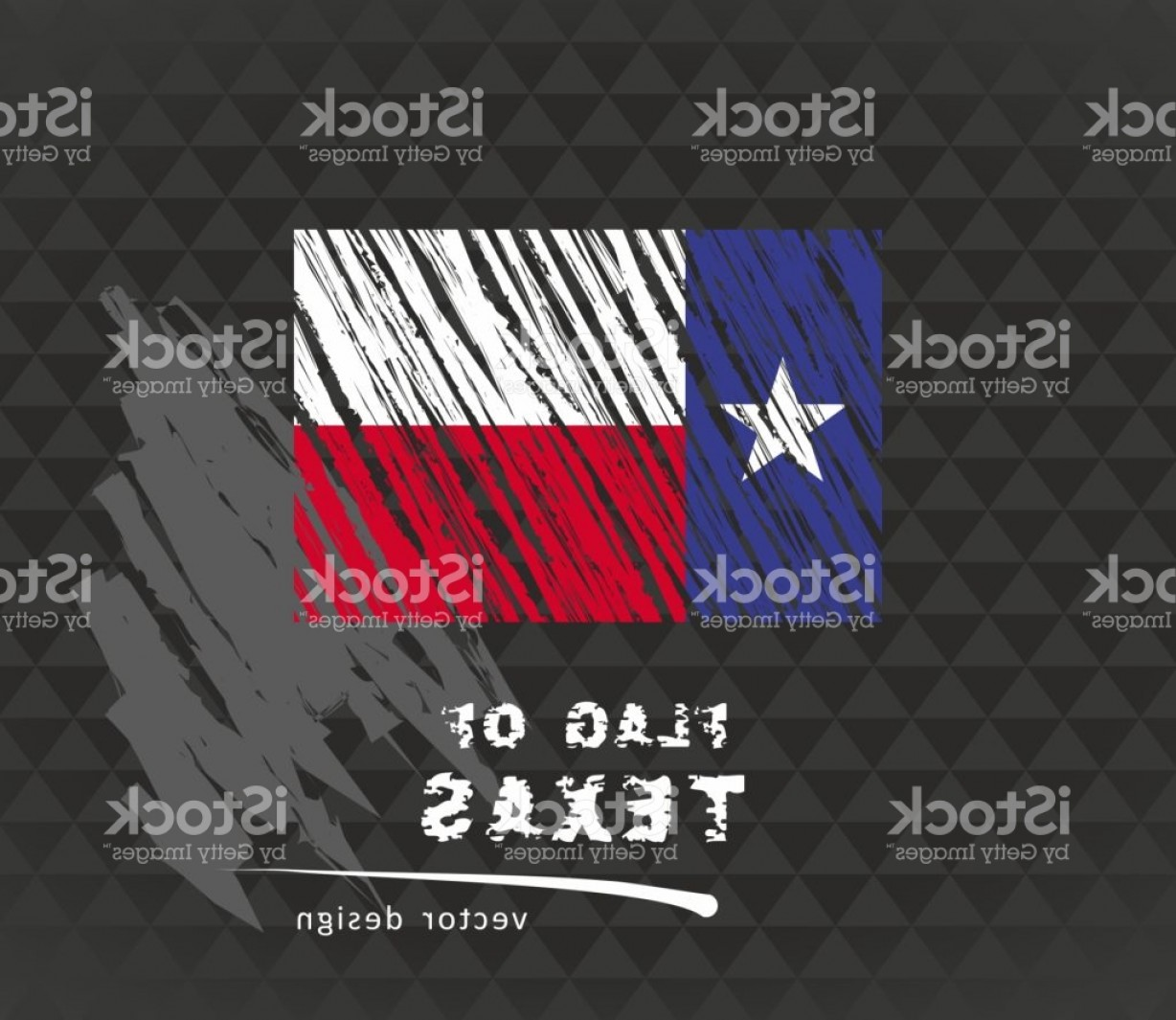 Texas Flag Vector Art: Flag Of Texas Vector Chalk Illustration On Black Background Gm