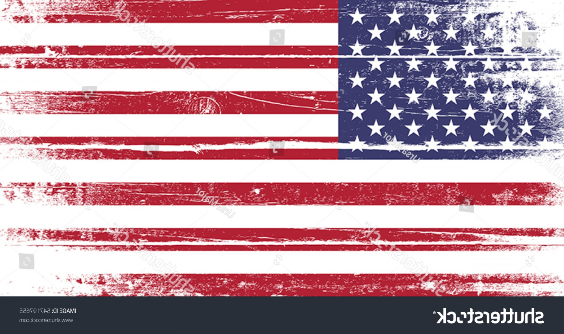 Distressed Flag Vector Digital: Flag United States America Old Dyed
