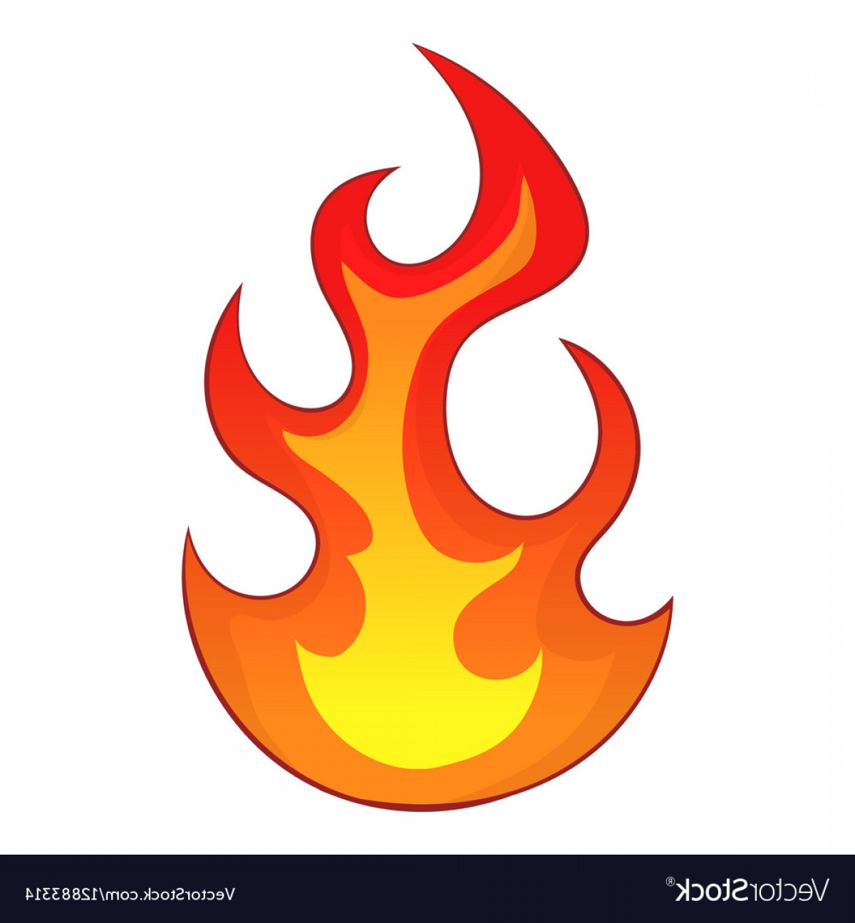Flame Vector Icon: Flame Icon Cartoon Style Vector