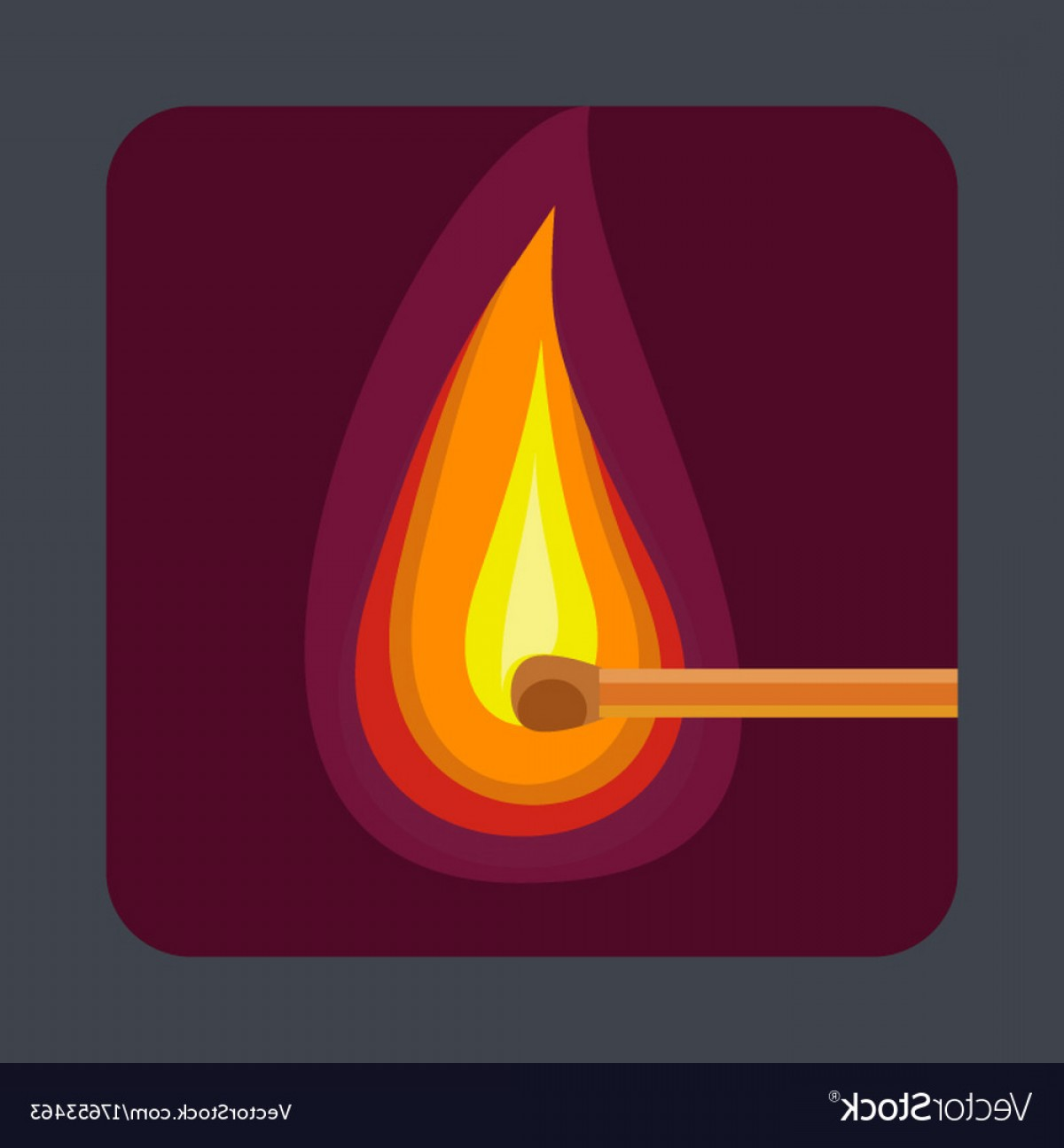 Vector Flame Stick Pattern: Flame Of The Match Concept Background Cartoon Vector