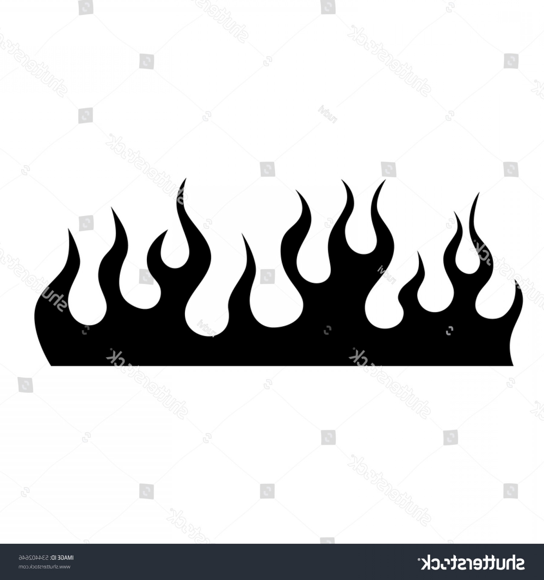 Tribal Flames Vector Car: Flame Vector Car Tribal Tattoo Pattern
