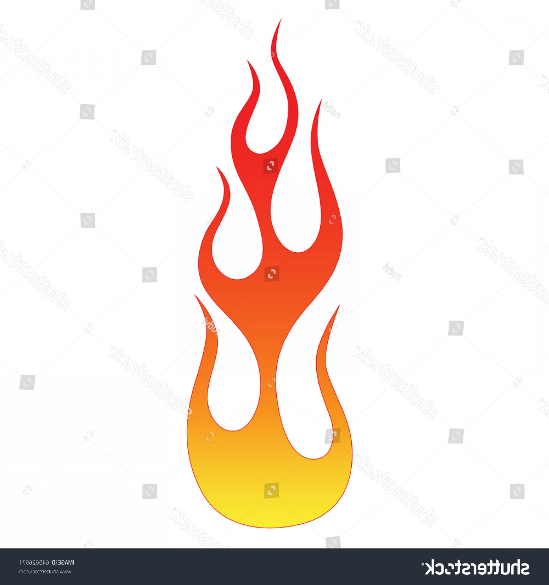 Flame Vector Icon: Flames Vector Icon Isolated On White