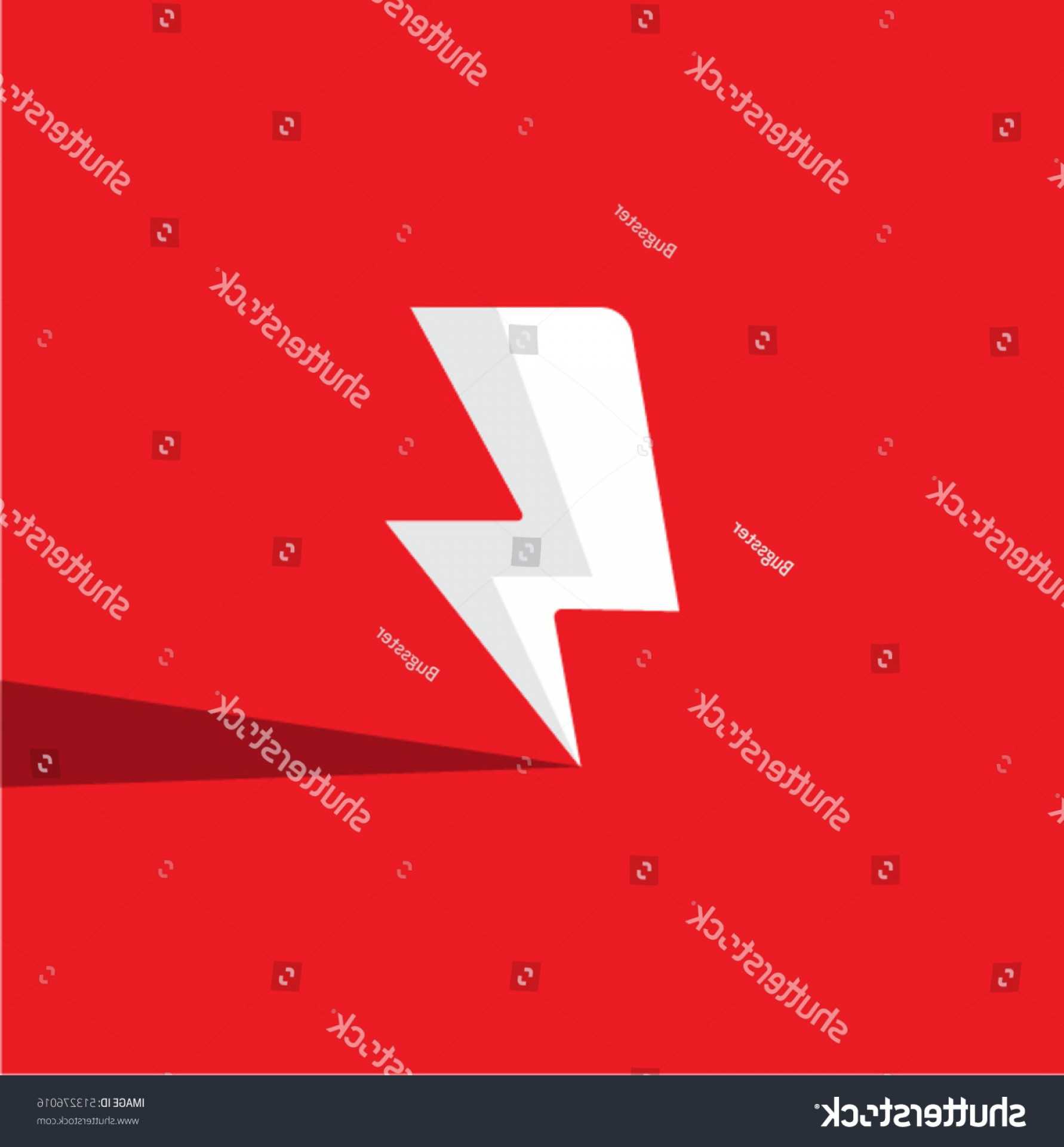 Flash Superhero Logo Vector: Flash Vector Icon Flat Superhero Symbol
