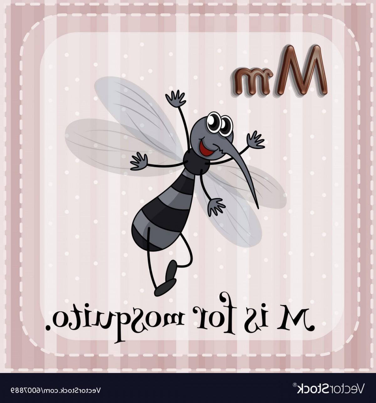 Mosquito Vector Worksheet: Flashcard Of M Is For Mosquito Vector