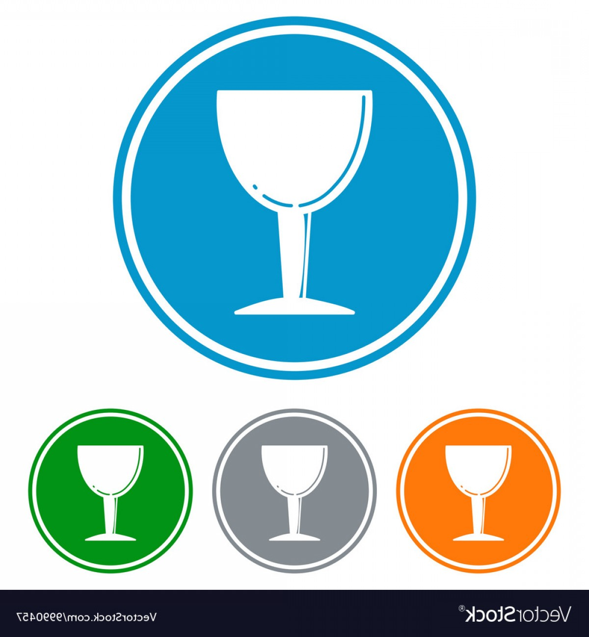 Beer Chalice Vector Logo: Flat Chalice Glass For Beer Icons Vector