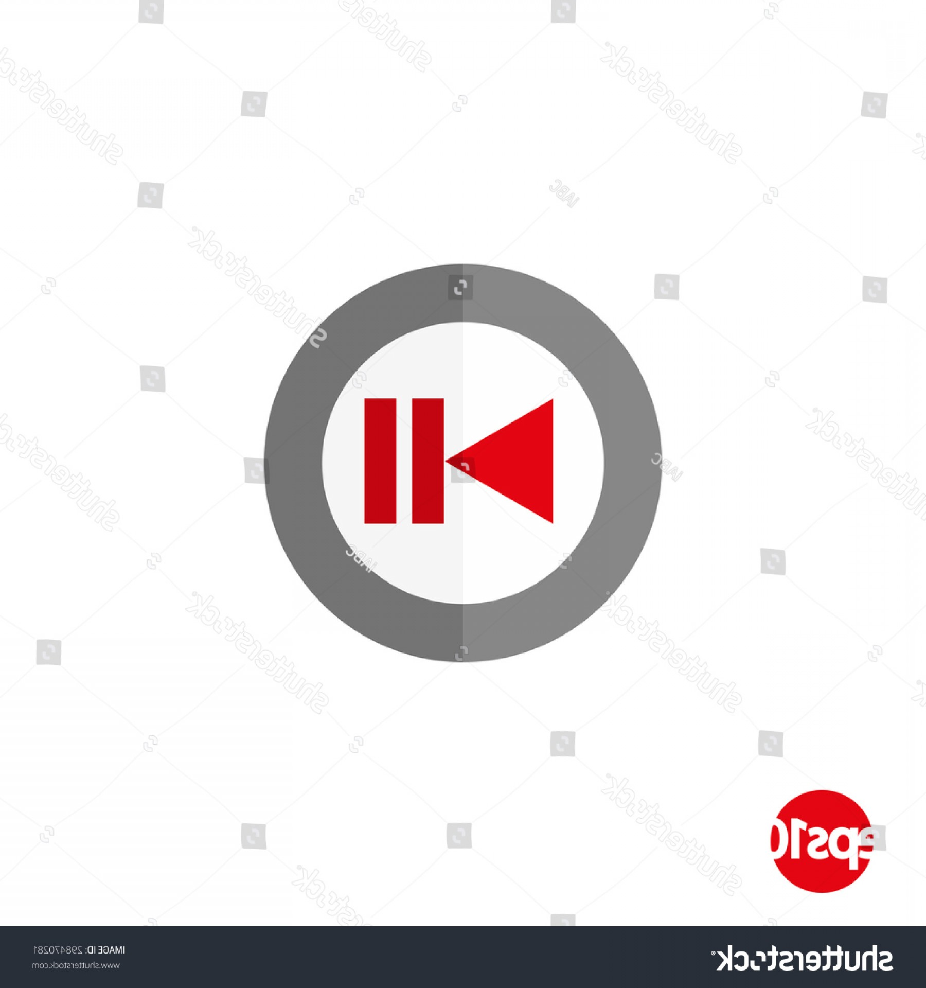 Pause Symbol Vector: Flat Design Vector Button Play Pause