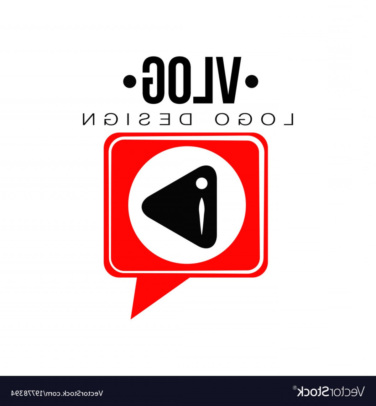 YouTube RedVector Real Life: Flat Emblem With Black Play Button In Red Vector