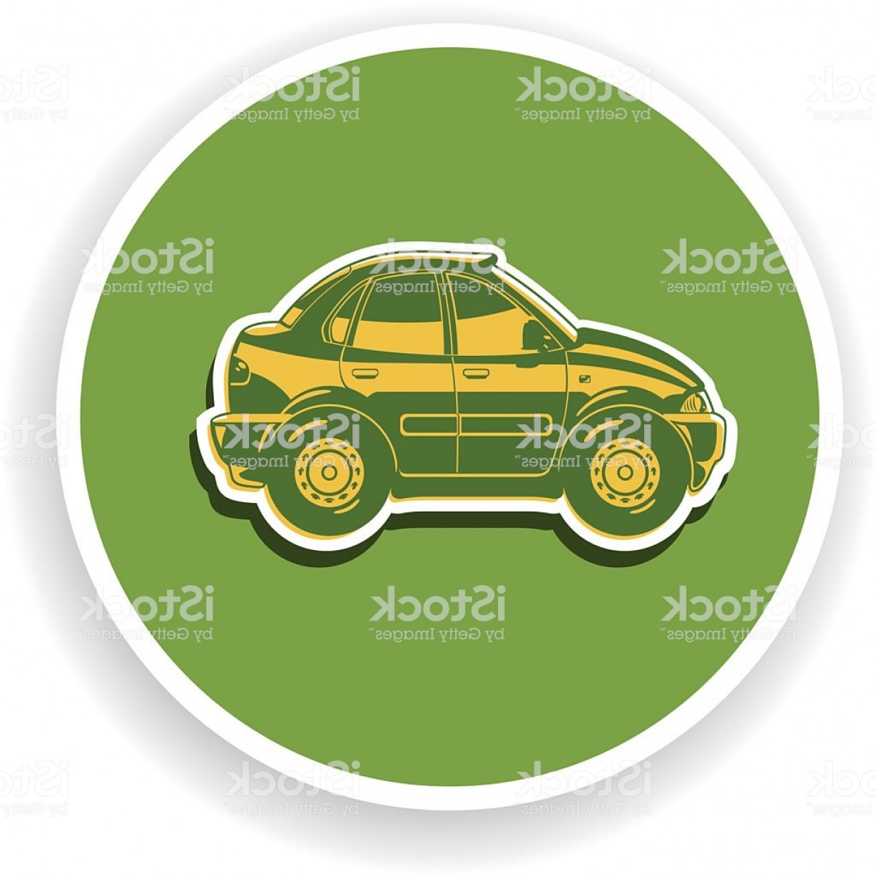 Saab 9 3 Vector Clip Art: Flat Illustration Of Sedan Gm