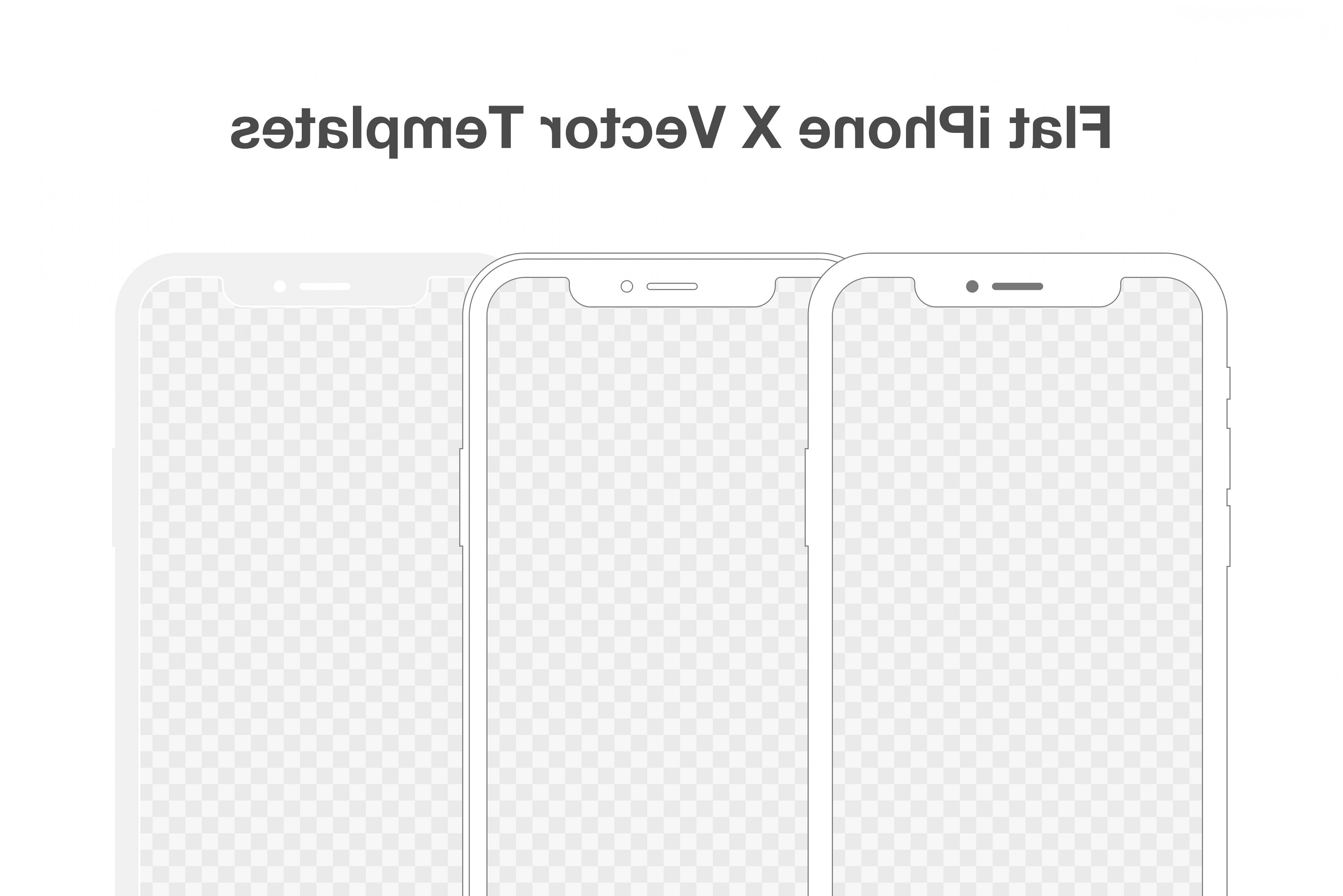White IPhone Vector Png: Flat Iphone X Vector Templates