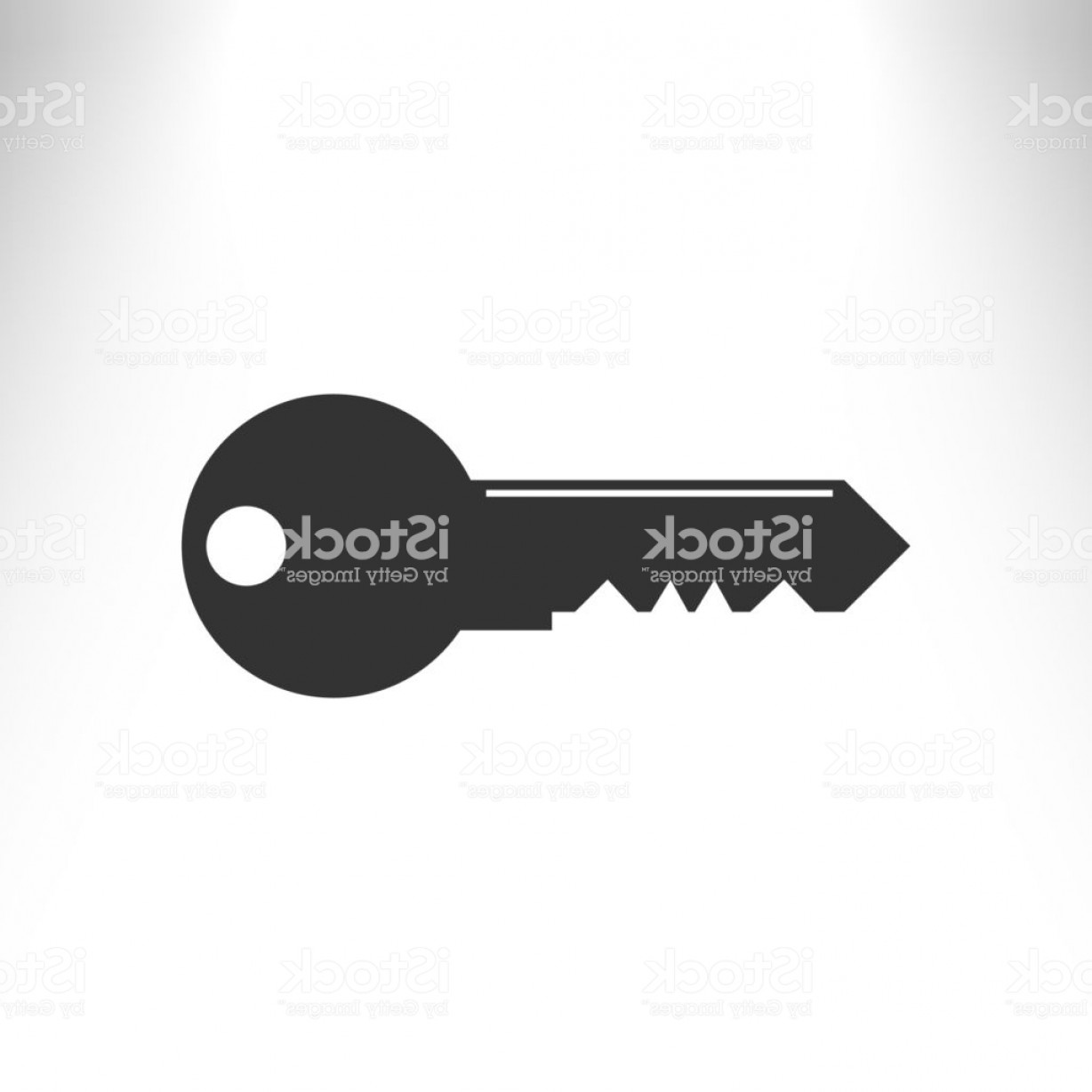 Old Key Vector: Flat Paper Cut Style Icon Of An Old Key Vector Gm