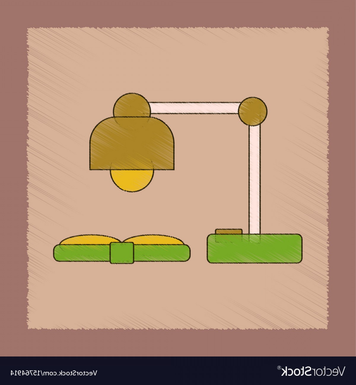 Open Book Vector Flat: Flat Shading Style Icon Lamp Open Book Vector