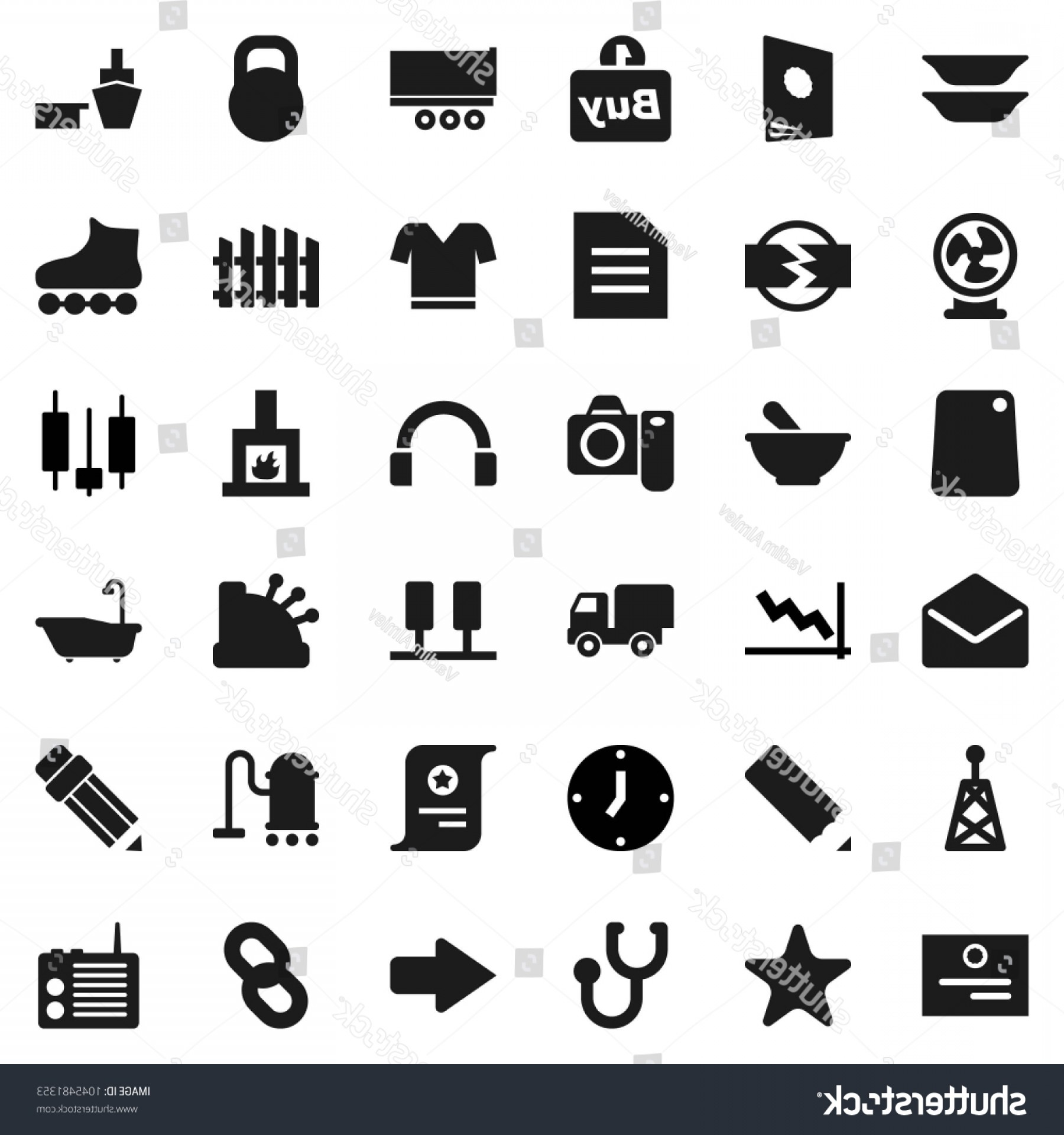 Vector Vacuum Trailer: Flat Vector Icon Set Vacuum Cleaner