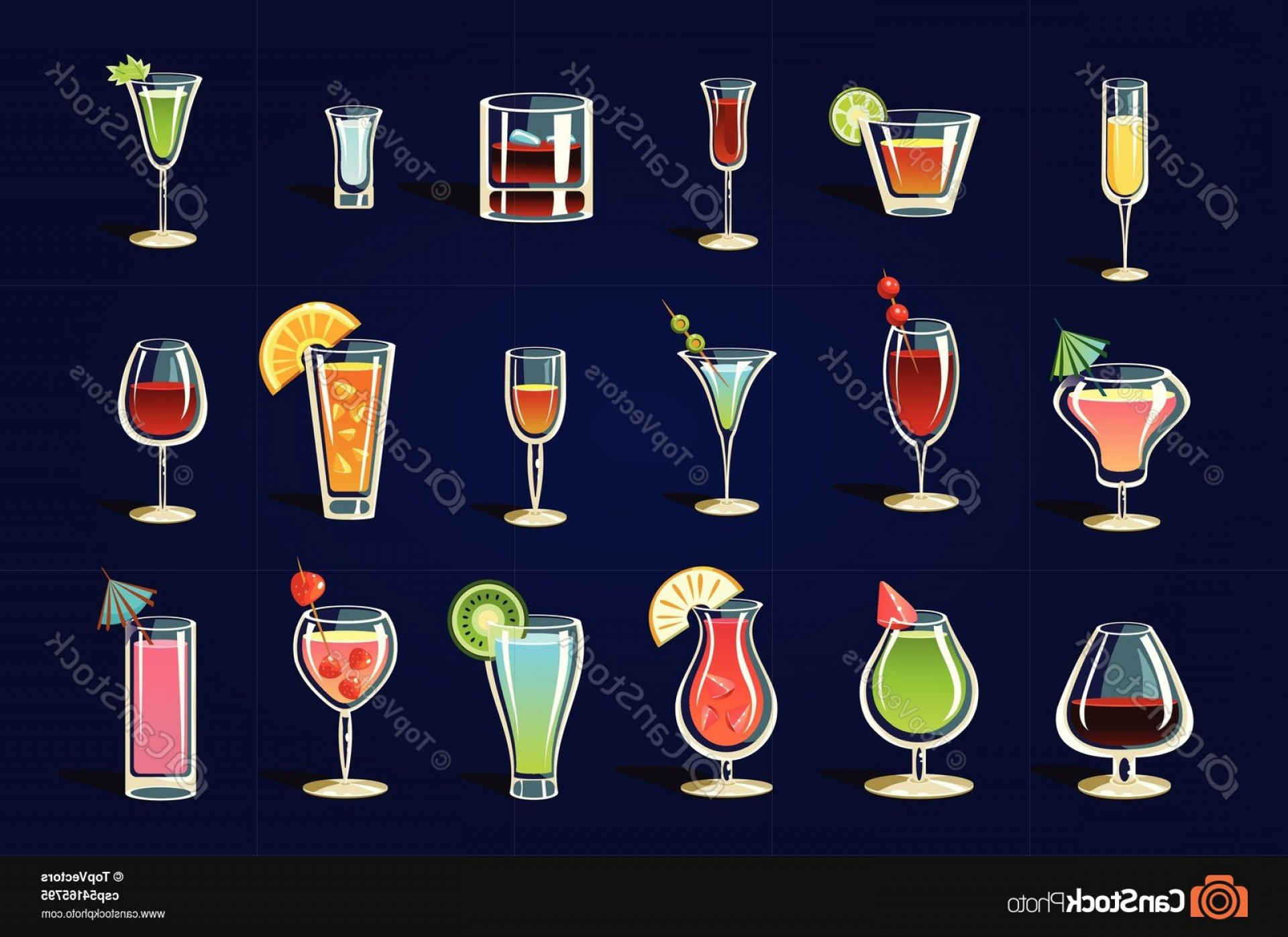 Glasses Vector Flat: Flat Vector Set With Different