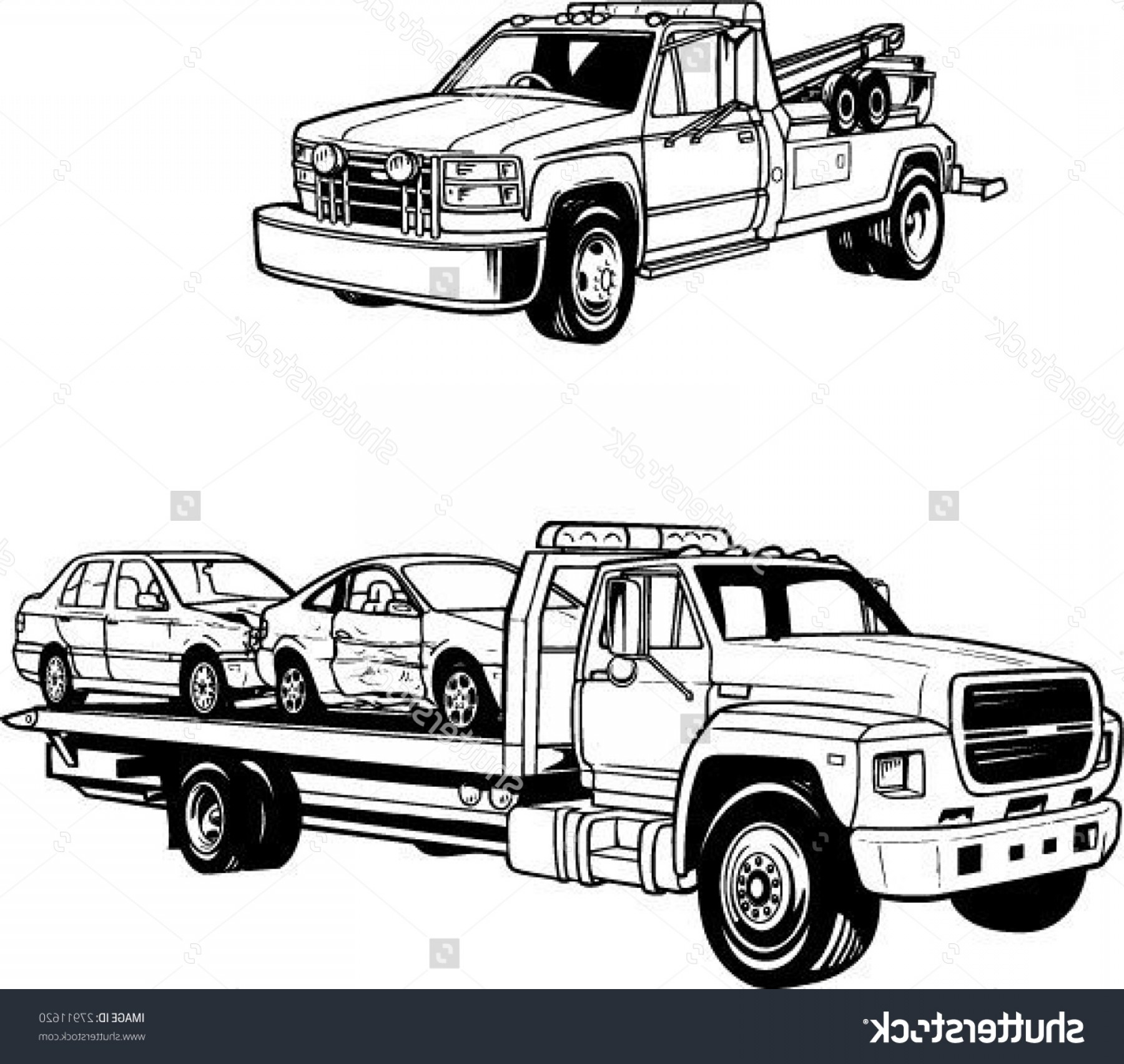 Towing Vector Clip Art: Flatbed Truck Clipart Flatbed Tow Truck Clipart Stock Vector Vector Tow Trucks