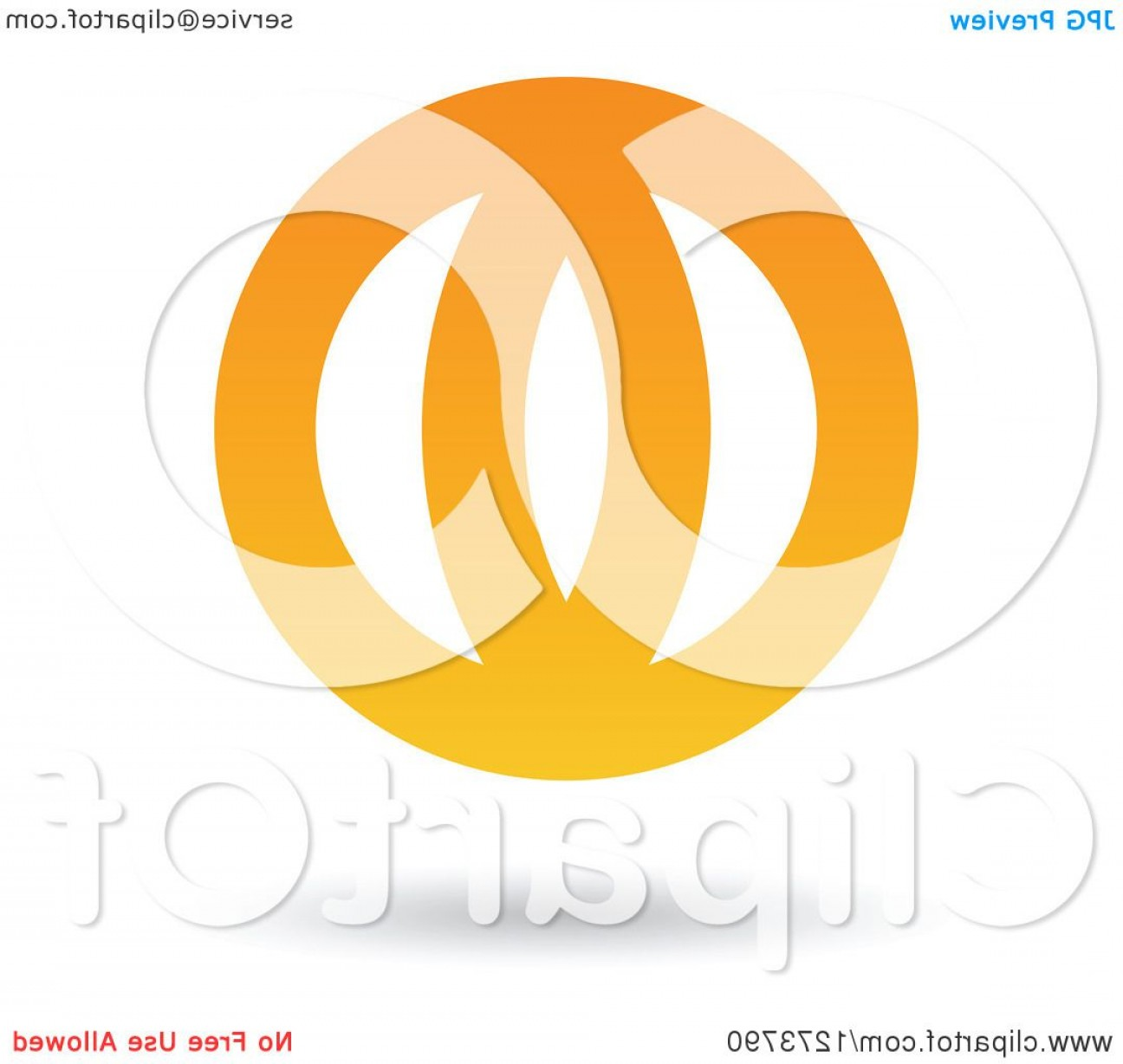 Globe Vector Clip Art Transparent Orange: Floating Abstract Orange Globe And Shadow