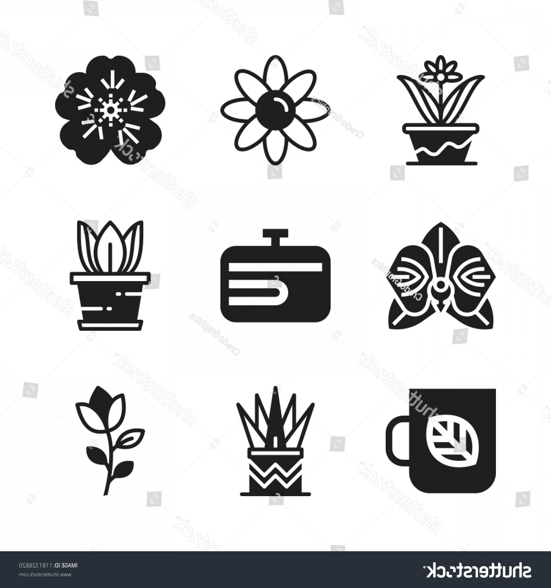 Floral Vector Icon: Floral Icon Vector Icons Set