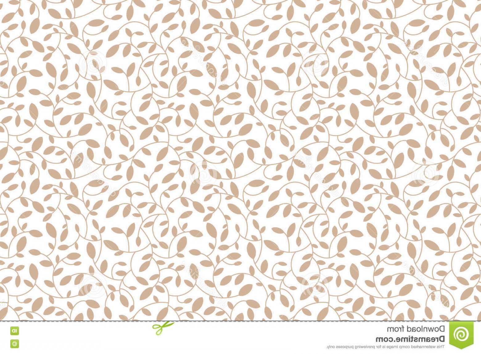 Transparent Brown Vector Background: Floral Seamless Pattern Brown Leaves And Sprouts Transparent Background Vector Print For Textile Or Web Illustration
