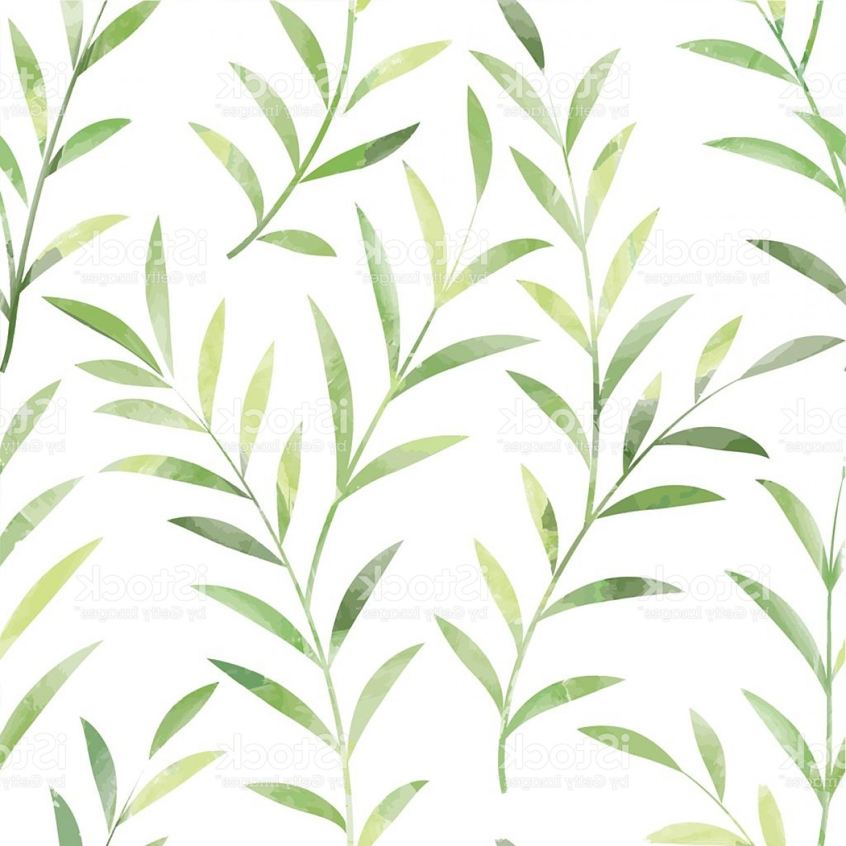 Leaf Background Vector: Floral Seamless Pattern Summer Leaves Background Gm