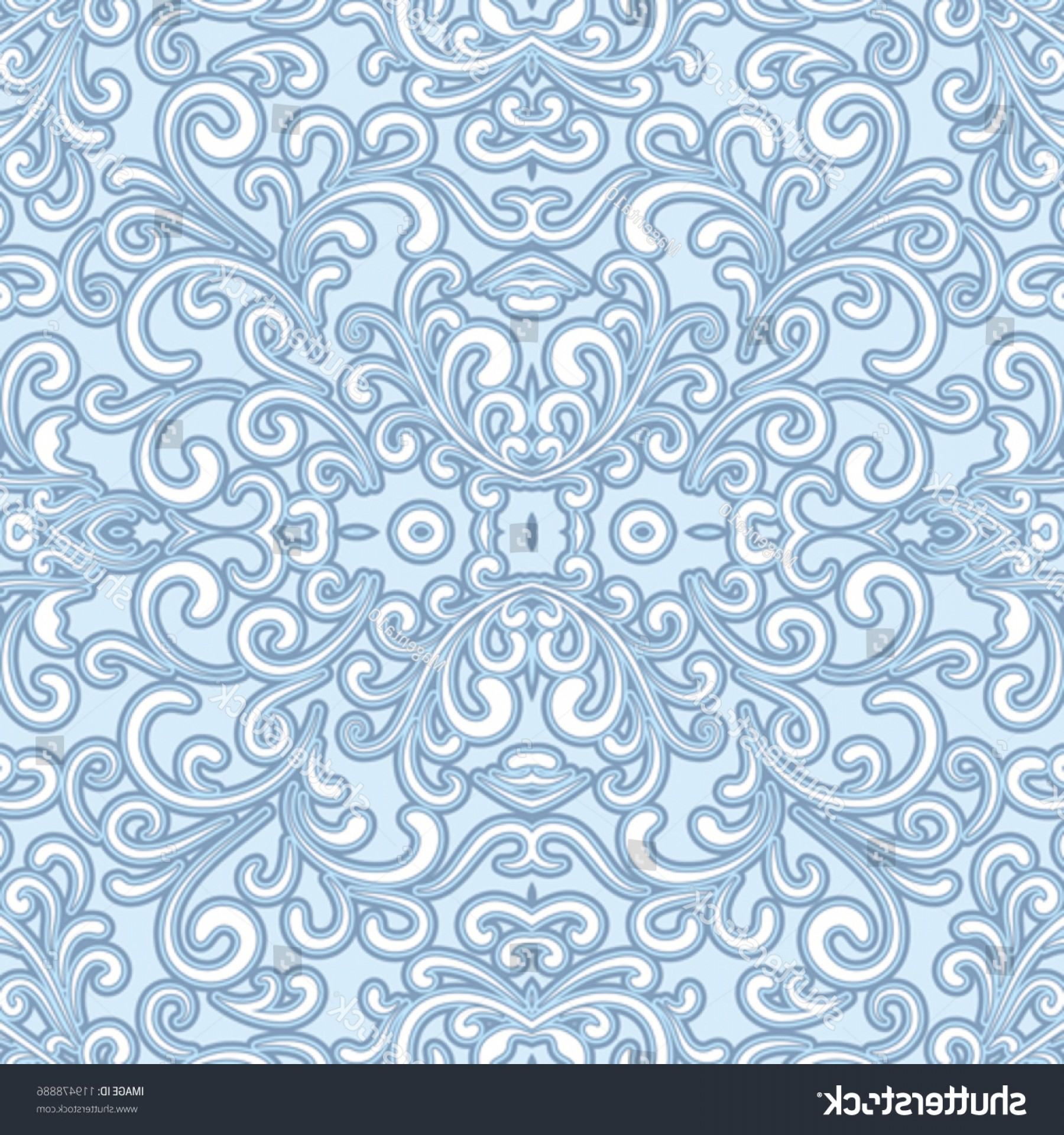 Vector Flourish Backgrounds: Flourish Seamless Pattern Abstract Decorative Vector