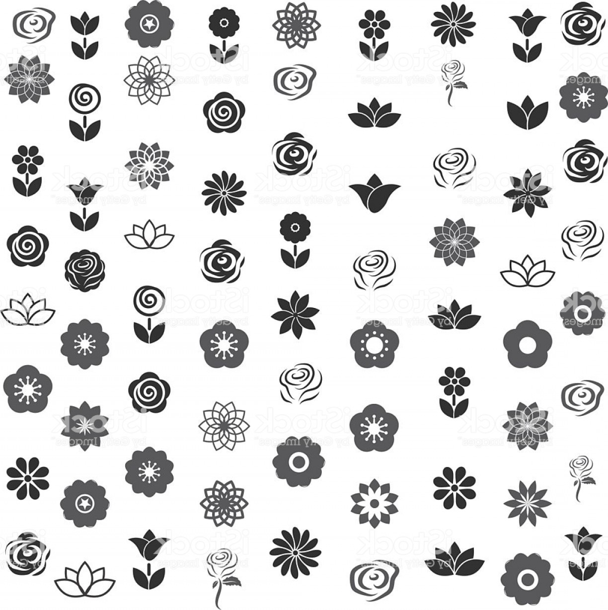 Icon Of Flower Vectors: Flower Icon Flower Pattern Seamless Vector Illustrator Gm