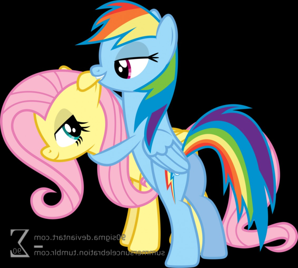 Sexy Rainbow Dash Vector: Fluttershy And Rainbow Dash Playing