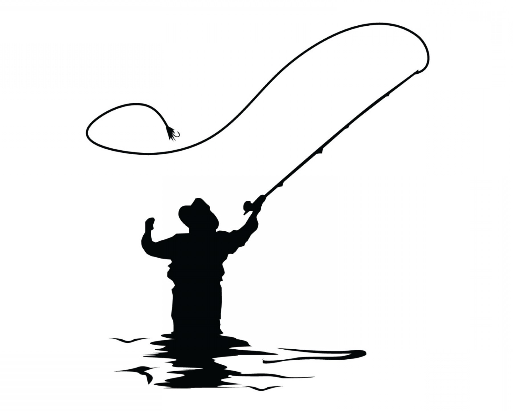 Vector Fishing Decals: Fly Fishing Decal Fly Fish Sticker