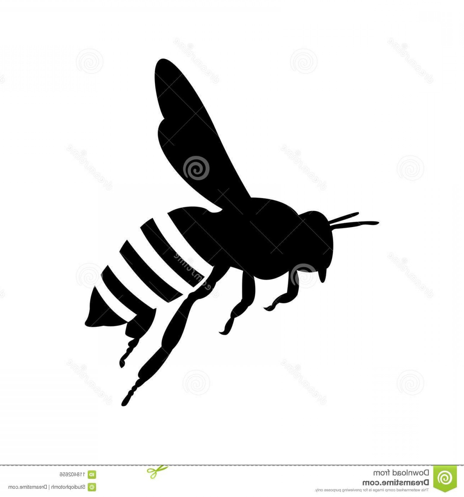 Bee Outline Vector: Flying Honey Bee Silhouette Honey Bee Icon Vector Eps Flying Honey Bee Silhouette Honey Bee Icon Vector Image