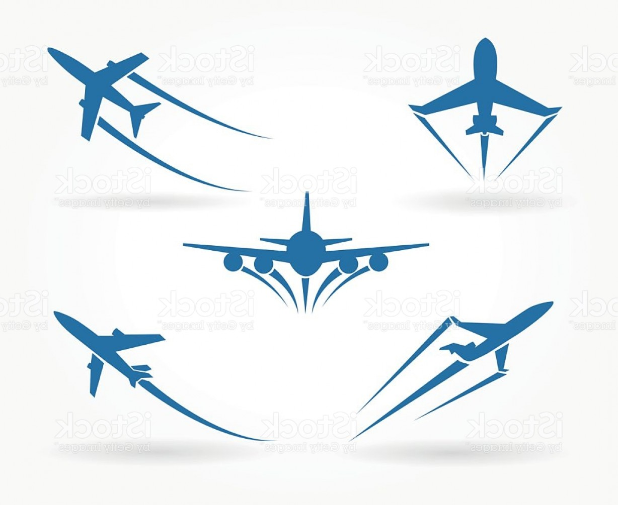 Vector Airplane Symbol: Flying Up Airplane Icons Gm