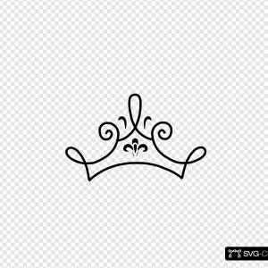 Princess Crown Clip Art Vector: Flat Crowns Clipart Vector