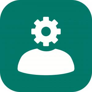 Operations Icon Vector: Flat Icon Design Of Cloud Computing Operations