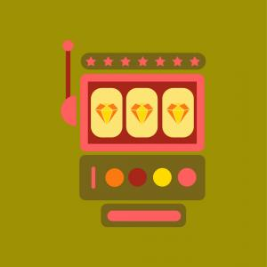 Slot Machine Vector: Abstract Image Of Laptop Casino Slot Machine Vector