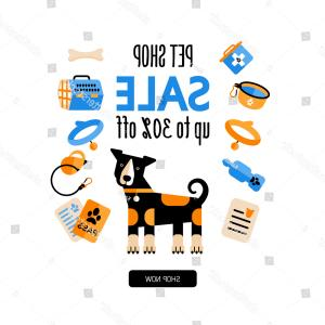 Dog Bone ID Tag Template Vector: Flat Style Icons Dog Accessories Template