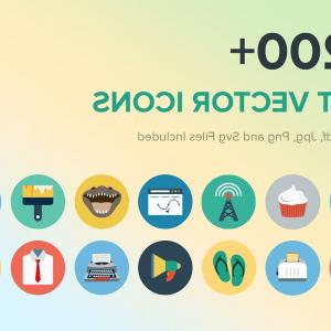 House Construction Company Vector Above: Flat Vector Icons Bundle