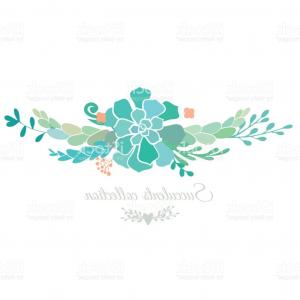 Turquoise Flower Vector: Photoflower Branch Turquoise Bridal Shower Invitation