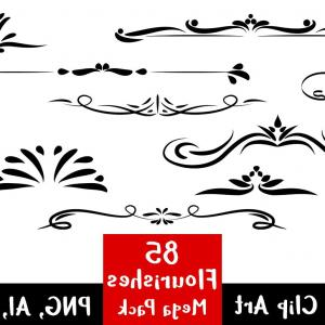 Swoop Vector Divider: Art Nouveau Frame And Banner Gm