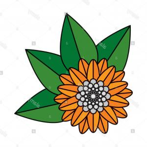 Hindu Flower Vector: Flower Hindu Decorative Isolated Icon Vector Illustration Design Image