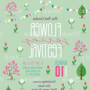 Collage Tags Design Vector Retro Flowers Garden: Flower Spring Festival Announcing Poster Template With Blossoming Garden Gm