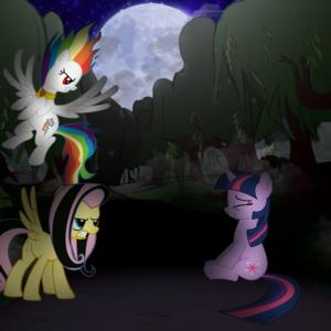 Angry Rainbow Dash Vector: Fluttershy And Rainbow Dash Are Angry To Twilight